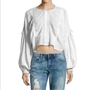 Free People white crop top size S/P
